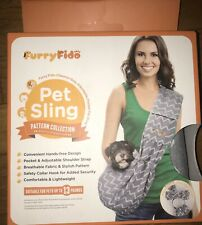 New listing Furry Fido gray Classic Pet Sling/Dog Carrier Up to 13 Pounds Cats & Dogs