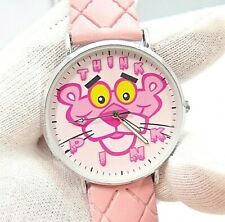 "PINK PANTHER,""Think Pink"" Pink Pad Band,MEN'S CHARACTER WATCH,M26,L@@K!"