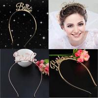 Hot Bride to Be Tiara Crown Headband Hen Party Wedding Hair Accessories Diamond