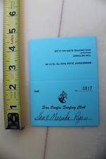 San Onofre Surfing Club Longboard Vintage Surf 1996 Sam Ryan Membership Card