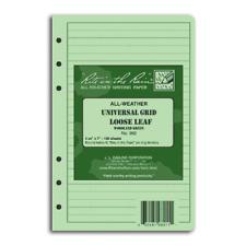 Rite in the rain loose leaf TAMS paper. Green Waterproof Notebook NAV208
