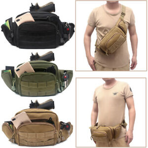 Concealed Carry Pistol Pouch Tactical Military Fanny Pack Holster Waist Gun Bag