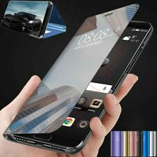 For Motorola Moto G8 Power Lite / G8 Plus Smart Mirror Leather Flip Case Cover