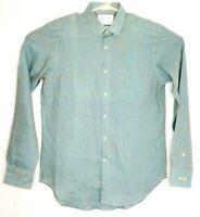 Haspel Men's Size Medium Shirt Button-up Long Sleeve 100% Cotton