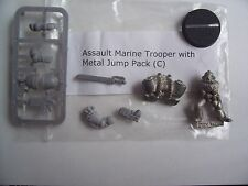 WARHAMMER 40K NEW ASSAULT MARINE TROOPER C . METAL MODEL with METAL JUMP PACK,