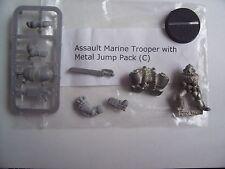 WARHAMMER 40K NEW ASSAULT MARINE TROOPER C . METAL MODEL with METAL JUMP PACK,