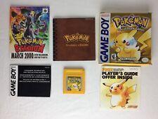 Juego de edición especial de Pikachu Pokemon Yellow + Caja Y Manual (Nintendo Gameboy)