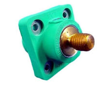 New Leviton 18R21-G Green Ball Nose Male Threaded Stud Cam-Type Panel Receptacle