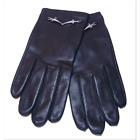 CESARE PACIOTTI femme des gants de cuir taille l avec logo en argent SL0062