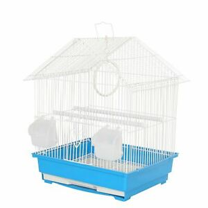 LIMA BLUE TRAVEL BIRD CAGE FOR SMALL EXOTIC PET BIRDS CANARY LITTER TRAY