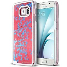 Coque arrière rigide Liquid Diamonds Crystal Paillettes Pour Samsung Galaxy S6 R