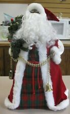 20� Holiday Workshop African American Santa tree topper table decoration
