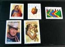 US Stamp Scott# 3876-3881 Christmas, John Wayne & etc. 2004 MNH L358 (note) BK21