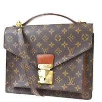 Auth LOUIS VUITTON Monceau 2Way Shoulder Hand Bag Monogram Brown M51185 20MC397