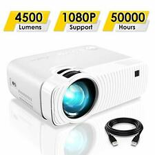 "ELEPHAS Portable Full HD 1080p LED Projector GC333, 4500 Lumens, 180"" Display"