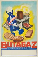 Affiche Originale - Vox Publicité - Butagaz - Gaz - Butane - Propane - 1950