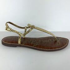Sam Edelman Gigi Sandal Gold Metallic Thong Size 9 M