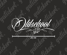 1x 20 cm Oldschool Aufkleber Sticker Decal Iron Cross Oldtimer Youngtimer Tuning