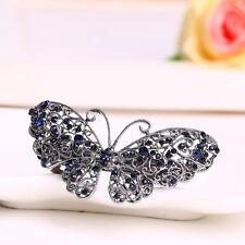 Fashion Women Rhinestone Flower Metal Hair Pin Barrette  Hairpin Butterfly Clip
