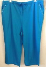 Womens Plus 3X Knit Blue Lounge/Warm-Up Pants/Capris Allyson Whitmore New w/Tag
