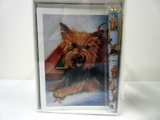 New Yorkshire Terrier Dog Boxed Note Card & Pen Set 6 Note Cards w/ Envelopes
