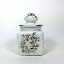 Lefton Porcelain Jar with Roses