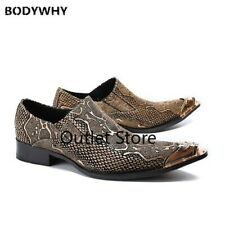 Men's Pointed-toe Leather Shoes Leather Sets of Low-top Sexy Nightclub Shoes