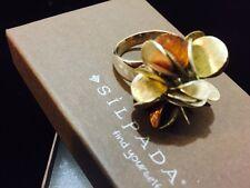 Silpada .925 Sterling Silver Brass Copper Cha-Cha Ring Sz 9 (NEW)