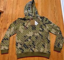 "$770 Mens Burberry ""Casper"" Monogram Printed Hoodie Khaki Green Small"
