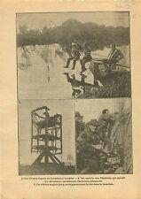 WWI Soldiers Fishermen British Army Moulin des Flandres France 1915 ILLUSTRATION