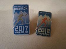 2 Biathlon Pins IBU Ruhpolding Weltcup 2017 und WM 2012