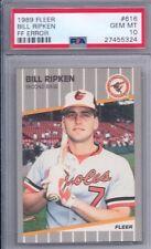 1989 Fleer # 616 Billy Ripken Orioles FF ERROR Gem Mint PSA 10