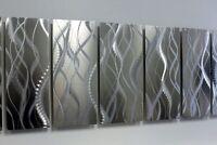 Modern Abstract Silver Metal Wall Art Sculpture Original Home Decor by Jon Allen