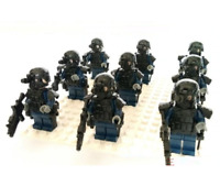 9 Pcs Minifigures SWAT military police Against terrorism weapons guns lego MOC