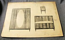 1920s ART DECO FRENCH FURNITURE MOBILIER FRANCAIS DESIGNS PRINT MOREAU PARIS  6