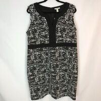 Dana Buchman Split Neck Dress Sz XL