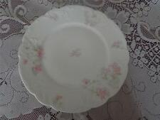 """HAVILAND FRANCE LIMOGES JOHN CARSON & BROS. WHITE WITH PINK FLOWERS 9 1/2"""" PLATE"""