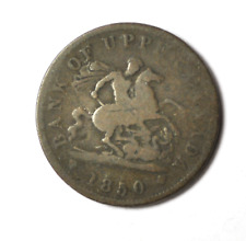 1850 Upper Canada One Penny Bank Token Tn3 Without Dot