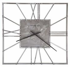 625-611 -LORAIN - A SQUARE 24 INCH GALLERY  HOWARD MILLER WALL CLOCK