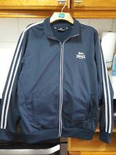 Excellent Mens Lonsdale jacket size Large in dark blue/green zip front