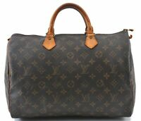 Authentic Louis Vuitton Monogram Speedy 35 Hand Bag M41524 LV B6648