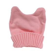 Knit Pink Pussy Hat Beanie With Ears Women's March Knitted Cap Cat Movement Purr