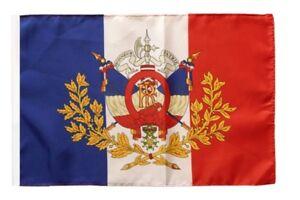 Frankreich mit Wappen Banner  Fahnen Flaggen 30x45cm