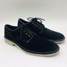 John Varvatos Collection Men's Sid Eva Suede Derby Oxfords Size 8M Black