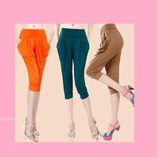 Múltiple 1 Talla Sedoso Recortada Pantalones De Chica Deportes Gimnasia
