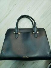 Gorgeous New Salvatore Ferragamo Medium Today Black Calfskin Leather Tote $1628