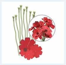 We R Memory Keepers ~ CREPE PAPER FLOWER KIT ~ RED ~ 10ct, Decorate ~ 42671-4