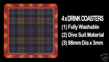 4  x  SCOTTISH TARTAN - CLAN - CAMPBELL - DRINK COASTERS - Re-usable Washable