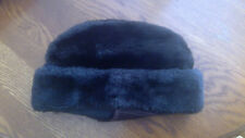 Vintage 1960 s Men s Hat Faux Fur Dk Brown ear flaps Trapper Cossack union  ... 6c06b89e9fc0