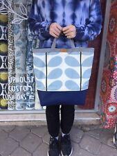 ORLA KIELY Blue  STEM Patterned Fabric  Big SHOPPING BAG - Tote Bag handmade